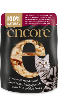 28001E-E EncCat 70g Pouch in broth CGI Chicken with Brown Rice
